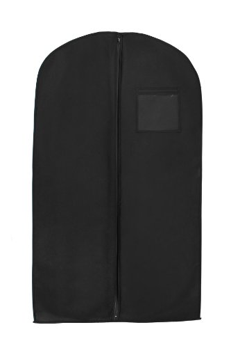 New Breathable 54' Suit/Dress Black Garment Bag by BAGS FOR LESS
