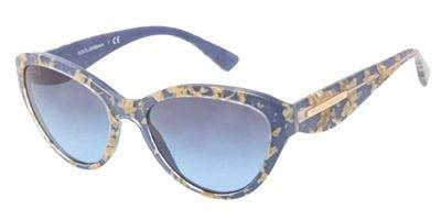 Dolce&Gabbana DG4199 Sunglasses-27508F Leaf Gold/Azure (Blue Grad - Dolce Gabbana Sunglasses Leaf And Gold