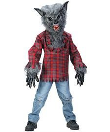 Halloween Werewolf Costumes For Kids (Fun World Werewolf Grey Costume, Medium 8 - 10,)