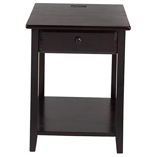 Mikash Night Owl 1 Drawer Nightstand with USB Port | Model NGHTSTND - 218 |