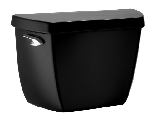 7 Wellworth Toilet (Kohler K-4632-7 Wellworth Classic Toilet Tank with Class Five Flushing Technology, Black Black)