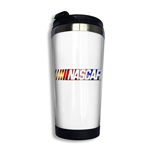 KGOISG NASCAR Logo Coffee Cup Stainless Steel Water Bottle Cup Travel Mug Coffee Tumbler with Spill Proof Lid