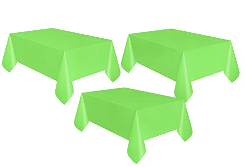 Unique Industries 3 Pack Plastic Table Cover (Neon Green, 108