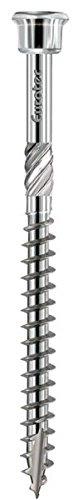 4 x 50 mm EUROTEC Terrassenschraube Zylinderkopf TX15 mart.Edelstahl geh/ärtet mit Zulassung 500 St/ück,905536