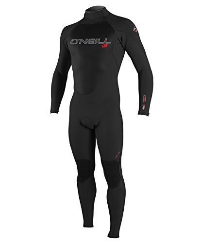 (O'Neill Youth Epic 3/2mm Back Zip Full Wetsuit, Black, 14)
