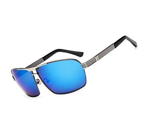 lunettes de soleil protection pour lunettes polarisées des conduite la de hommes Mode lunettes UV400 de bleu voyager Pour soleil en en métal Bleu pour plein air fzqaavPw