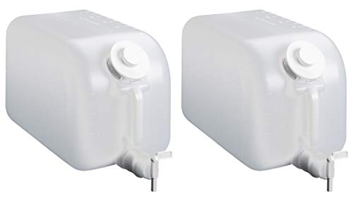 (Tolco 5 Gallon Plastic Dispenser Carboy with Spigot, HDPE, Natural, 2 Pack)