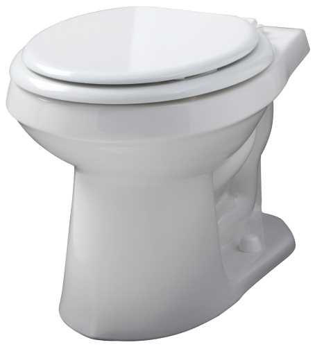 Gerber Plumbing VP-21-552 Gerber Viper Watersense High-Efficiency Siphon Jet Toilet Bowl with Round Front, 1.6 Gpf/1.28 Gpf, White - 2463447