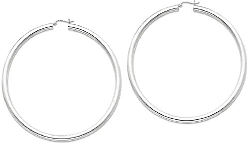 ICE CARATS 925 Sterling Silver 4mm Round Hoop Earrings Ear Hoops Set Fine Jewelry Gift Set For Women Heart by ICE CARATS