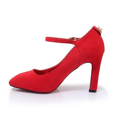 EU 36 Sandales BalaMasa Femme Red Compensées Rouge APL10772 5 8nxvpO