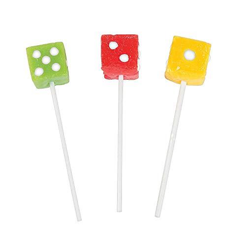 Dice Lollipops Suckers - 12 ct