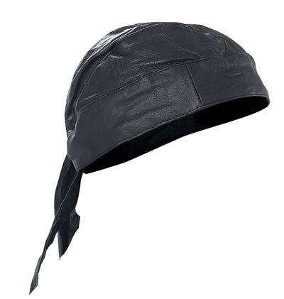 Soft Biker motorcycle Driving Rider Leather Skull Cap Du Rag at ... fb7e1448820