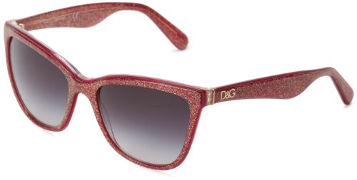 D&G Dolce & Gabbana 0DG4193 27398G56 Butterfly Sunglasses,Glitter Bordeaux,56 - Sunglasses D&g Red