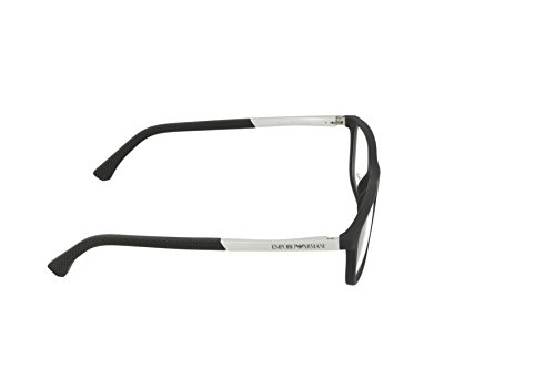 Emporio Armani Montures de lunettes 3069 Pour Homme Black Rubber, 53mm 5063: Black Rubber