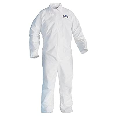 Kleenguard A20 Breathable Particle Protection Coveralls (49004), REFLEX Design, Zip Front, White, XL, 24 / Case
