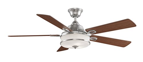 Fanimation Stafford - 52 inch - Brushed Nickel with Light Kit and Remote - - Blade Fan Electric Kit
