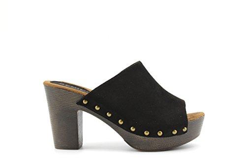 Modelisa - Sandalias Destanoladas Tacon Mujer Negro