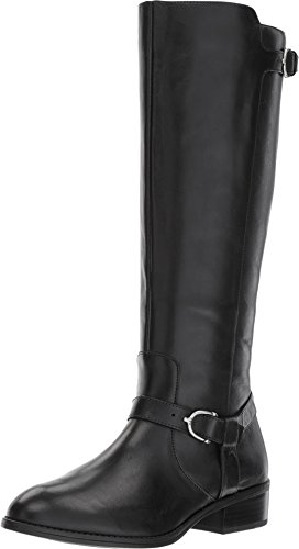 Lauren Ralph Lauren Women's Margarite Black Burnished Calf 9 B US B (M)