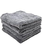One Classic Auto Microfiber Edgeless Coral Fleece Towel Grey