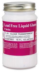 AMACO F Lead-Free Non-Toxic Glaze, 1 pt Plastic Jar, Clear Transparent F-10