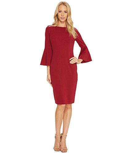 Calvin Klein Women's Bell Sleeve Sheath Dress CD7C133E Persimmon Dress by Calvin Klein