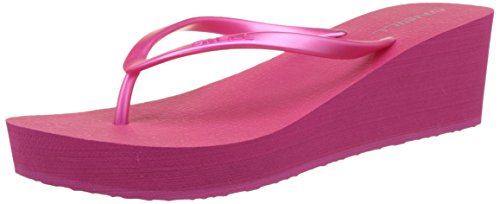 O'Neill Fw Wedge - Chanclas Mujer Pink (Beetroot Purple)