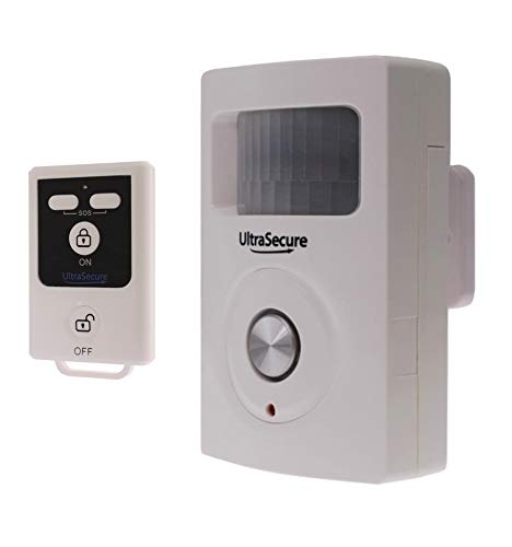 Wireless Shed Alarm, Remote Control to arm and disarm, 130 Decibel Siren, Batteries Supplied, UK Support