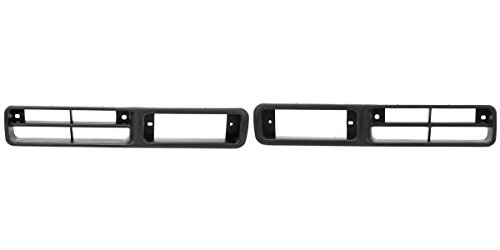 DAT AUTO PARTS Bumper Insert Finisher Set of Two Replacement for 93-97 Nissan Pickup 93-95 Nissan Pathfinder Black Left Driver Right Passenger Side Pair NI1038101 NI1039101
