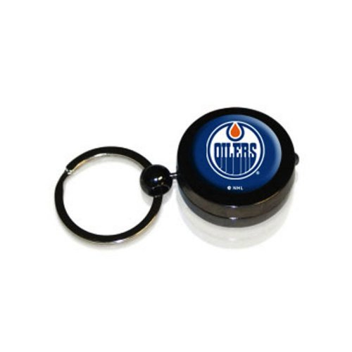 Nhl Key Ring Edmonton Oilers (NHL Edmonton Oilers Hockey Puck Flashlight Keychain)