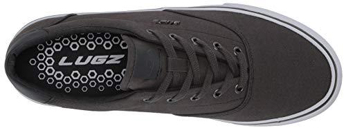 Lugz Men's Flip Classic Canvas Low Top Fasion Sneaker, Dark Grey/White, 9 Medium US