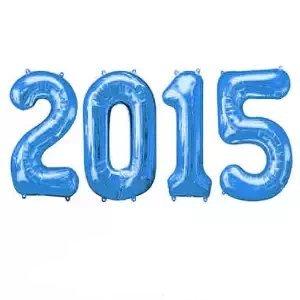 Grad 2015 16 Inch Blue Mylar Balloons (Air Fill Only) (4/Pkg) Pkg/1