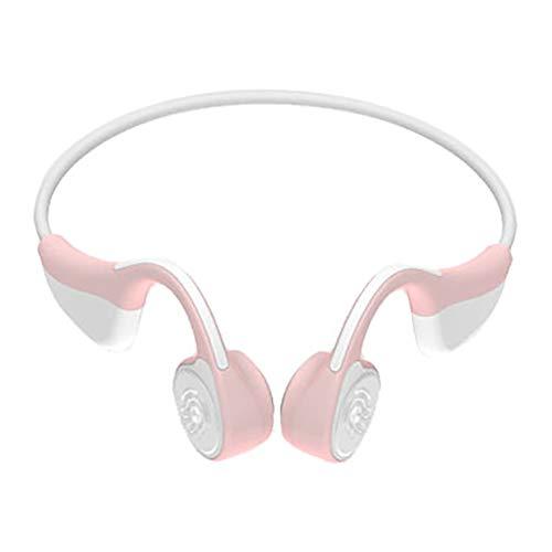 【Bluetooth5.0進化版】Bluetooth イヤホン 骨伝導 ヘッドホン スポーツ 超軽量 高音質 耳が疲れない ノイズキャンセル ハンズフリー通話 防汗 防滴 ワイヤレス イヤホン bluetooth ヘッドセット 骨伝導 iPhone&Android対応 (ピンク)