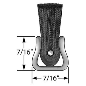 10 Trim Length Tanis Brush MB101224 Metal Back Strip Brush with Light Duty 7//16 Galvanized Steel Backing 2 Overall Length 0.045 Bristle Diameter Black Nylon Bristles