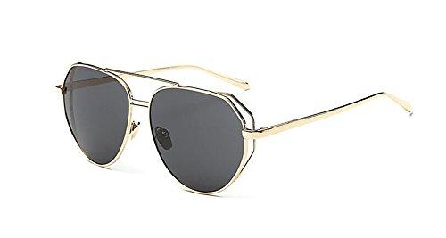 du Lennon retro métallique polarisées Noir lunettes en vintage inspirées Frêne rond soleil cercle style de xwYR84qI