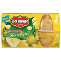 Del Monte Diced Pears In Light Syrup - 4 oz - 4 ct