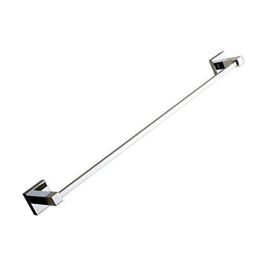 Leyden Contemporary Bathroom Accessories Solid Brass Towel Bar Chrome Finish Lavatory Home Decor Bath Shower Improvement Towel Racks and Holders Free Standing Space Saver Towel Bars cheap
