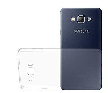 OKCS® TPU Hülle Case Schutzhülle für Samsung Galaxy A7 inklusive Wunderglass Panzerglas Screenprotector Schutzfolie Displayschutz Glasprotector