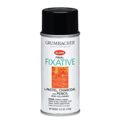 GRUMBACHER 643 4-3/4-Ounce Final Fixative Gloss Spray Can