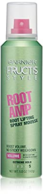 Garnier Fructis Style Root Amp Root Lifting Spray Mousse, All Hair Types, 5 oz.(Packaging May Vary)