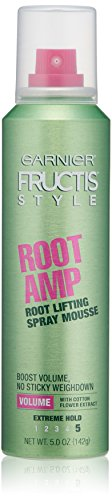 Root Booster (Garnier Fructis Style Root Amp Root Lifting Spray Mousse, All Hair Types, 5 oz.(Packaging May Vary))