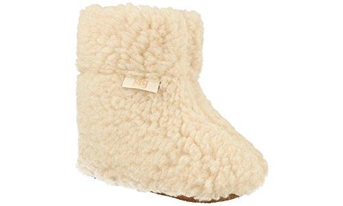 Beige Mouton De 100 La Laine De Pantoufles avec Fabriqués Chauds Naturelle À qwFBP