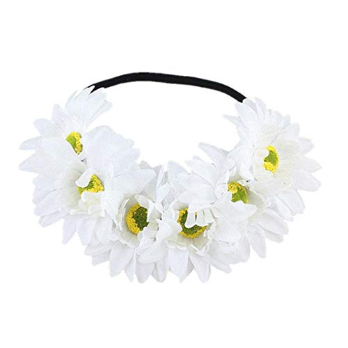 Jinjiums women's Headdress,1PC Halloween Beauty Charming Cute Headband Yak Horn Hair Tiara Headband Hair Hoop Headdress (F)