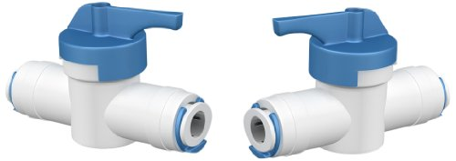 Aquatic Life Buddie Fit 500260 1/4-Inch Press Valve with 2-Pack Blue Clips for Tube Fitting