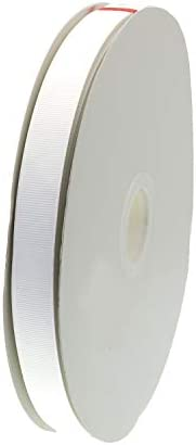 ATRibbons 100 Yards 1/2 Inch Wide Grosgrain Ribbons Top Grade Solid Color Polyester Material Ribbons for Gift Wrapping Hair Bow and Craft (White)