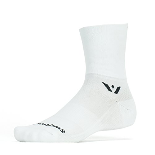 Swiftwick Four Aspire Socks  Large  White