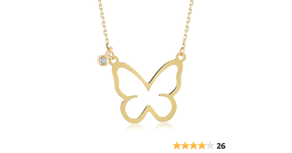 0.60 Carat Tanzanite Butterfly Pendant with 14K Solid White Gold Rope Chain Necklace \u2013 Gemstone Estate Jewelry