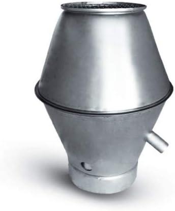 Campana deflectora para tuberías en espiral, campana extractora, acero galvanizado: Amazon.es: Bricolaje y herramientas