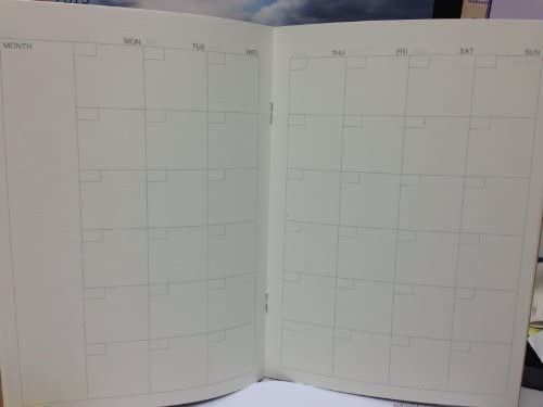 JAPAN MUJI A5 Schedule Note - For Monthly 32 sheets