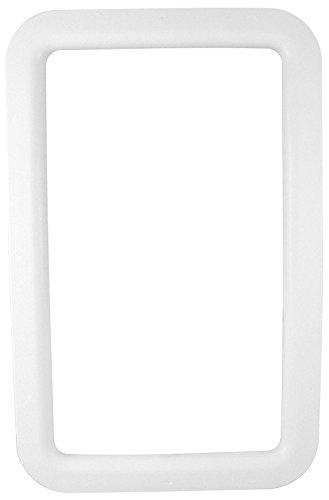 VALTERRA A77006 RV Trailer Camper Hardware Entrance Door Window Frame Exterior White by Valterra