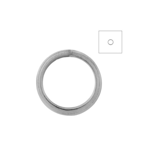 About Shapes (About 540pcs Zacoo Open Jump Rings Shape Round Color Nickel Plated 6x6x0.7 Outside Diameter 6mm)